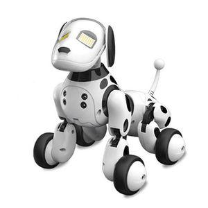 ROBOT - ANIMAL ANIMÉ Chien Robot DIMEI 9007A Jouet Intelligent RC Blanc