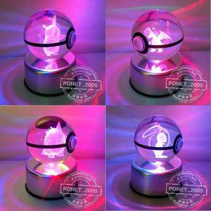 OBJET DÉCORATION MURALE Vaporeon Lumière colorée 3D Pokemon Crystal Ball j