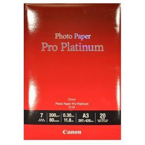 CARTOUCHE IMPRIMANTE CANON Pack de 1  Papier photo pro platinum 300g/m2