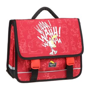 CARTABLE TITEUF Cartable - 2 Compartiments - 38 cm - Rouge