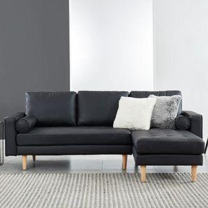CANAPÉ - SOFA - DIVAN Canapé d'angle réversible 3 places en simili cuir