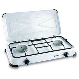 RÉCHAUD Plaque de cuisson gaz portable 2 feux - 2600 w - b