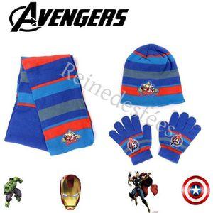 BONNET - CAGOULE Bonnet écharpe gants enfant Avengers Héros Marvel