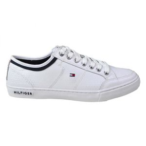 BASKET Baskets Tommy Hilfiger Corporate en cuir blanche p 82bbf26be2aa