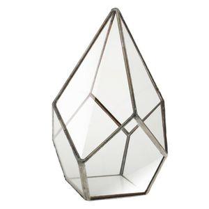 VASE - SOLIFLORE XM519-Decorative Vase de Fleurs en Verre Diamant C