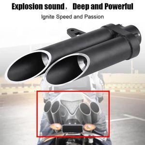 Échappement Double Tuyau d/'échappement 2 x 65 mm environ en acier inoxydable dans échappement Sport Optique
