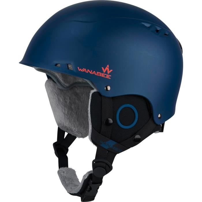 WANABEE Casque de ski Darau ABS 200 - Enfant - Bleu marine
