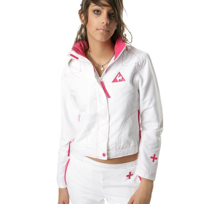 le coq sportif veste tennis sport heritage femme achat vente veste le coq sportif veste. Black Bedroom Furniture Sets. Home Design Ideas