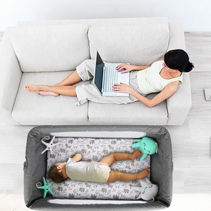 Berceau Lit bébé cododo avec Ultra confort matelas et Moustiquaire