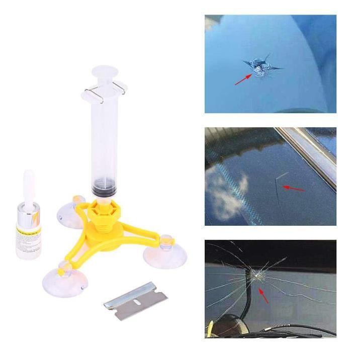 Kit de réparation de pare-brise de voiture Auto Crack Glass Resin Sealer Pare-brise Restore Fix Set Triangular HB022-RUR ^224