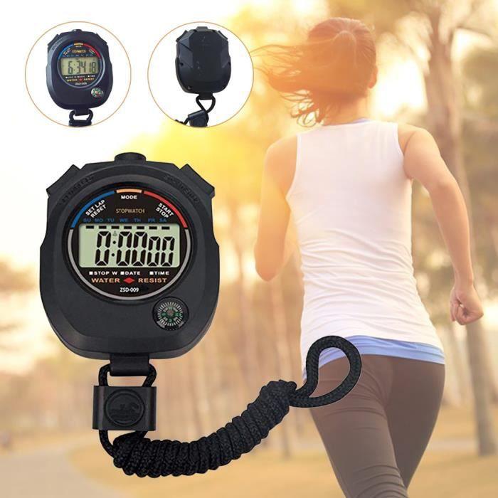 Chronomètre électronique multifonctionnel en cours d'exécution Chronomètre Chronomètre Sports Chronomètre @dwudgfe2158