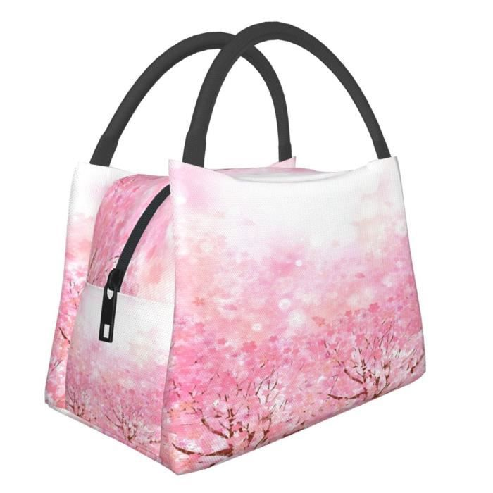 Sac à Lunch,Fond de fleurs de cerisier 18x 28x 16.5cm