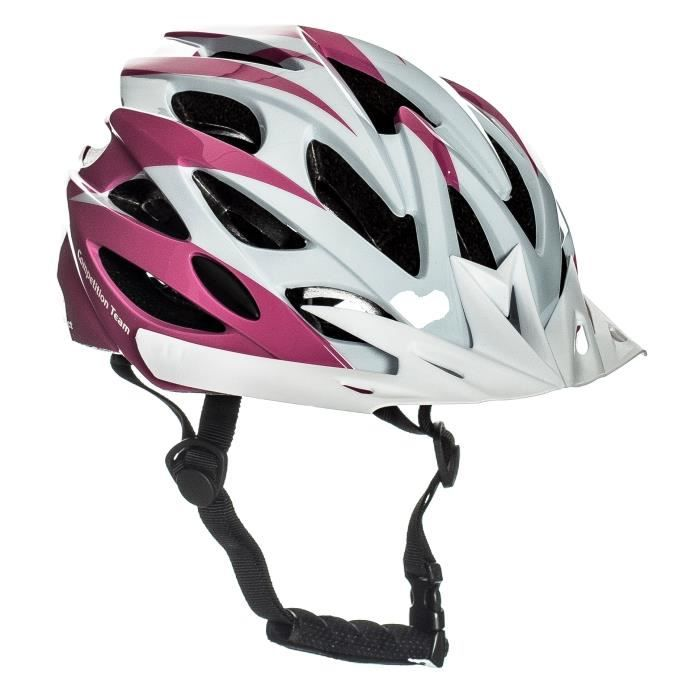 Sport Direct casque de vélo pour fille Taille 52-26 cm blanc, rose