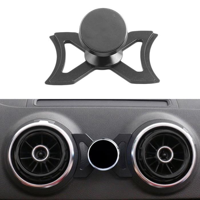 Supports voiture,Support portatif d'évent de voiture pour le Support de GPS de voiture de Smartphone -Audi A3 S3 Support rotatif de