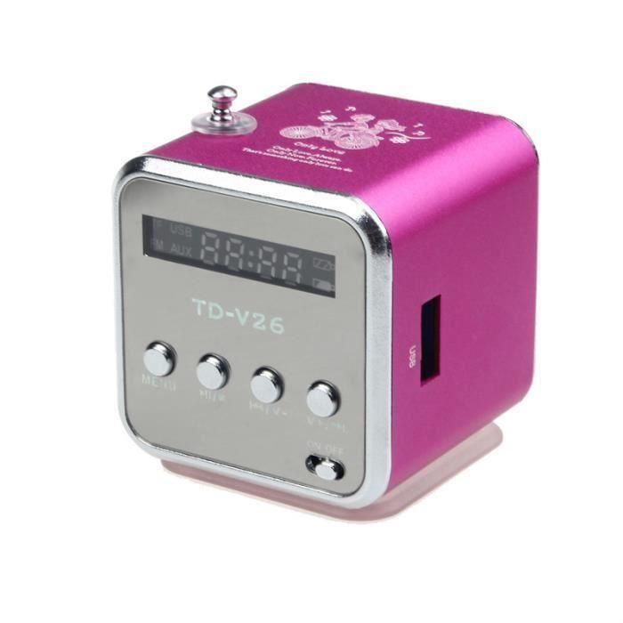 Président Disk HIFI Haut-parleur Lecteur MP3 Amplificateur Micro SD TF USB Avec Radio FM vert