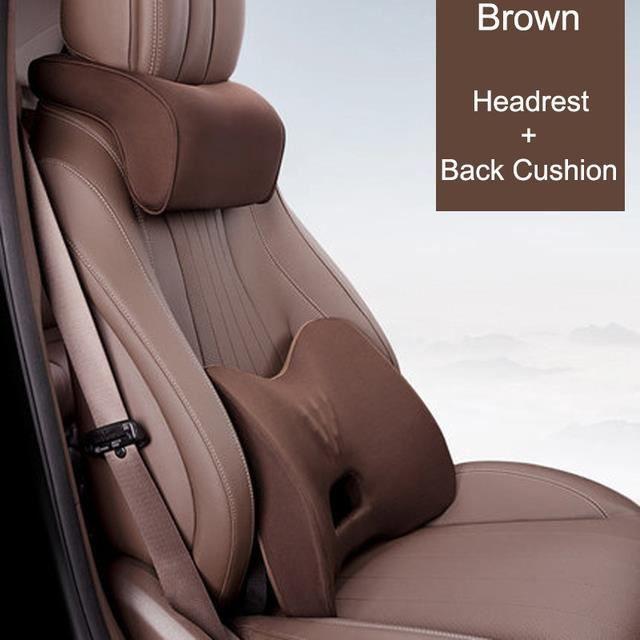 Oreillers en mousse à mémoire de forme pour siège auto,utilisés pour protéger les coussins de siège auto pour le cou et la taille