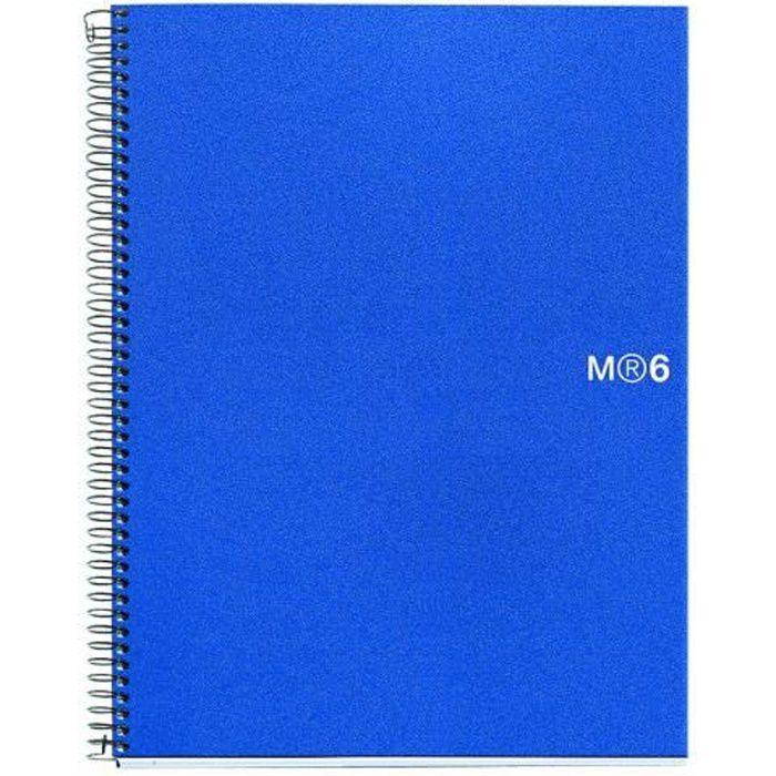 Miquelrius 6 Basic Cahier reliure à spirale A5 150 feuilles - 300 pages petits carreaux bleu polypropylène (PP)