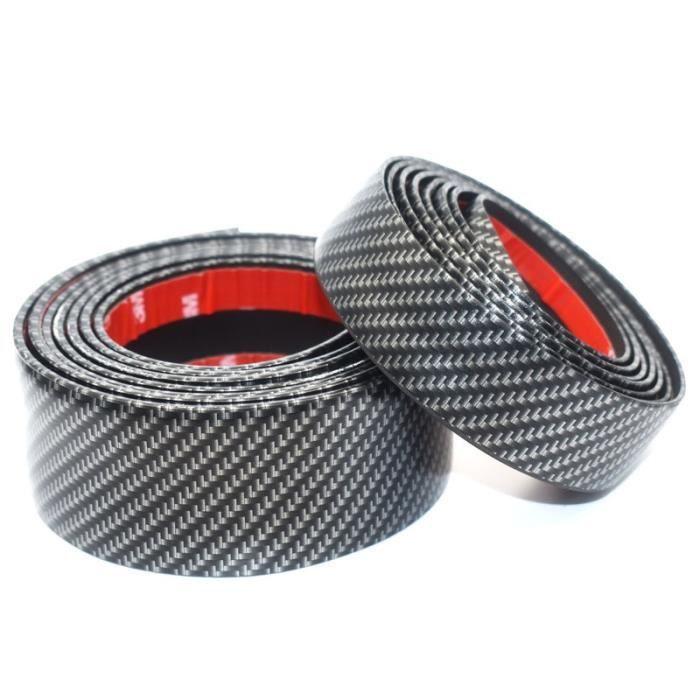 3CMX1M -Bande de moulage en caoutchouc de Fiber de carbone, bande de garniture noire douce pour pare choc, protecteur de rebord de p