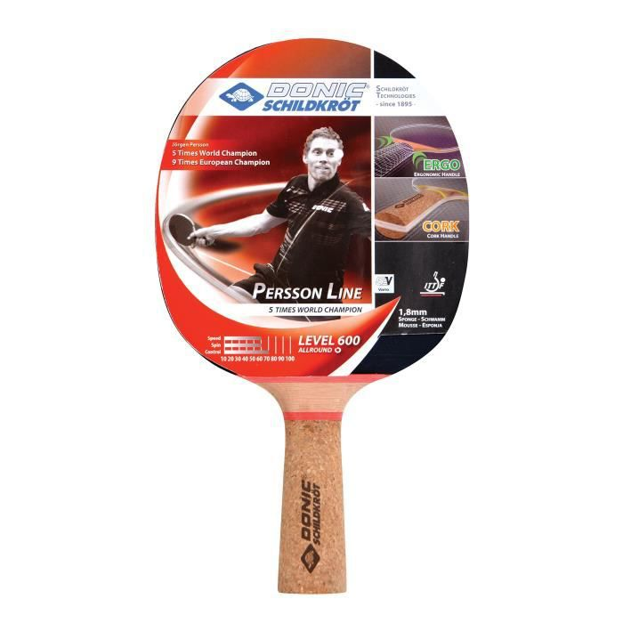 Raquette de tennis de table PERSSON 600 (manche en liège)