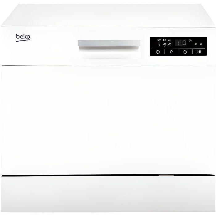 Beko DTC36610W, Comptoir, Blanc, Compact, Statique, panier, Acier inoxydable