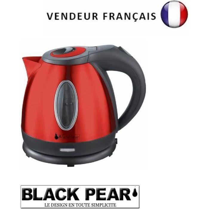BlackPear Bouilloire Design Moderne Rouge Laque BSF1250