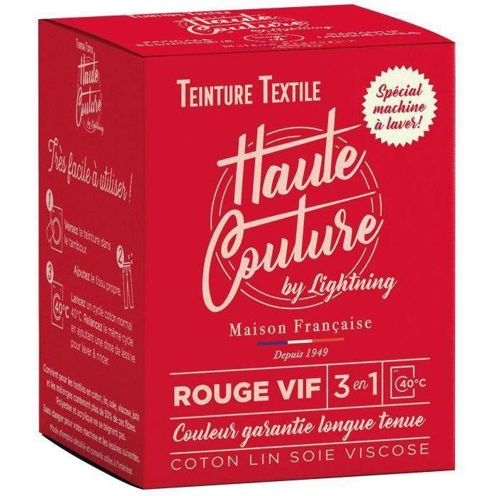 Teinture textile haute couture rouge vif 350g