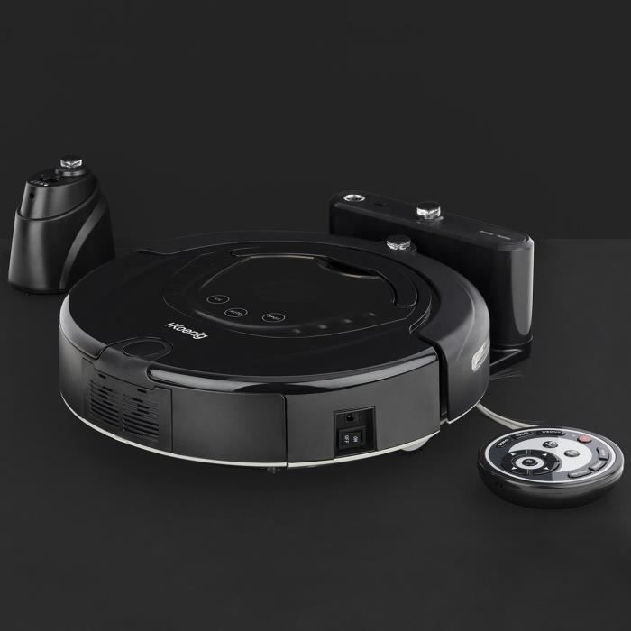 aspirateur robot intelligent jusqu'à 90 minutes noir