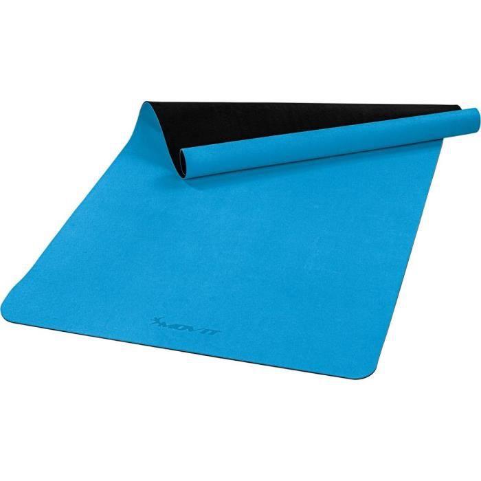 MOVIT Tapis de gymnastique XXL TPE, tapis de pilates, tapis d'exercice premium, tapis de yoga, 190 x 100 x 0,6 cm, bleu clair