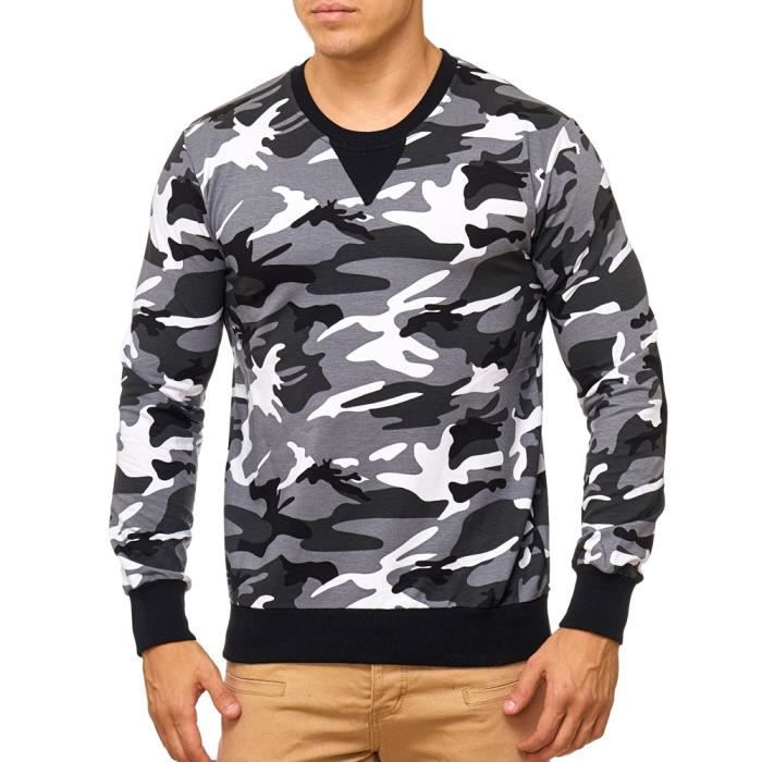 Pull camouflage pour homme Pull V767 blanc camo