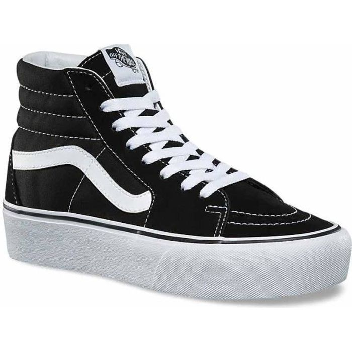 chaussures homme baskets vans sk8 hi platform 2. chaussures montantes à lacets avec un motif checkerboard, les sk8-hi platform 2.0 d
