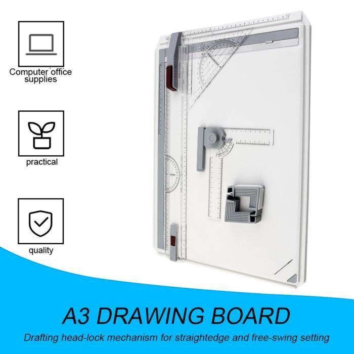 Planche à dessin Table de planche à dessin A3 Portable avec mouvement parallèle Angle réglable dessinateur Art peinture dessin