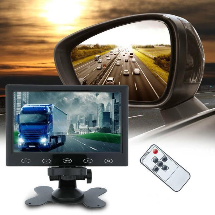 """7""""moniteur écran Hd 1024*600 entrée Av/Vga/Hdmi pour caméra de surveillance de Sécurité/Dvd/Voiture"""