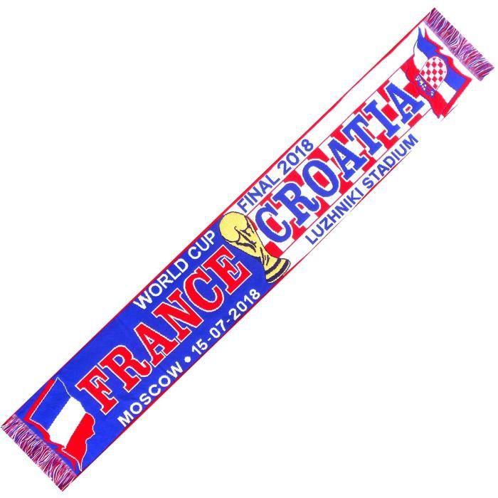 ECHARPE FINALE COUPE DU MONDE 2018 FRANCE CROATIE No drapeau maillot fanion casquette ...
