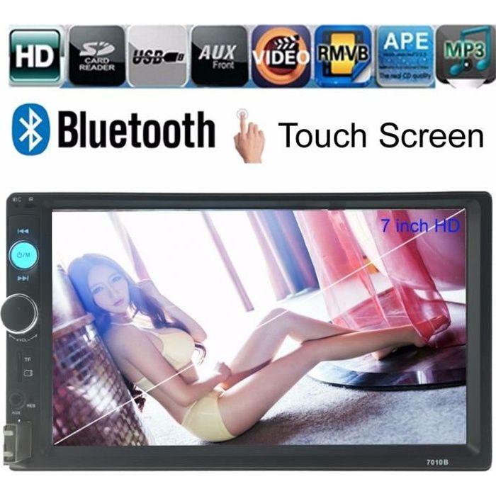Car Radio Player 7 '' de HD Dans l'écran Dash tactile Bluetooth voiture lecteur FM / MP5 / USB / AUX 2 Din Car Electronics