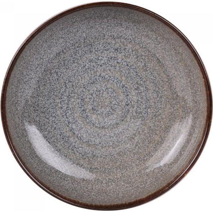 Assiette creuse 20 cm clara (lot de 6) - Table Passion Gris