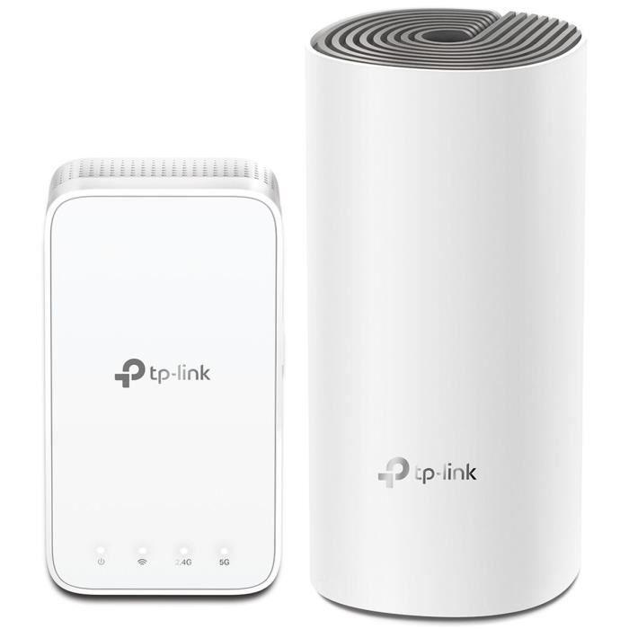 TP-Link Deco E3 (Pack de 2) systèmes Wi-FI Mesh - WiFi AC1200, 2 Ports Ethernet, Compatible avec Amazon Alexa et IFTTT