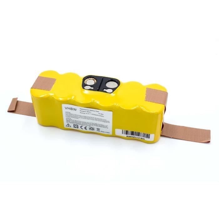vhbw NiMH batterie 2000mAh pour robot aspirateur iRobot Roomba 564, 565, 570, 572, 577, 580