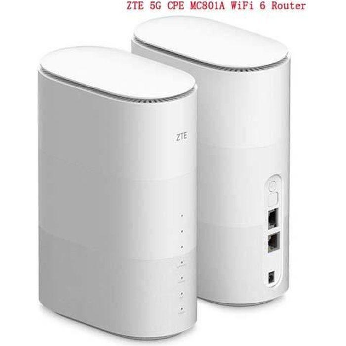ZTE MC801A 5G CPE Router Wifi 6 SDX55 NSA+SA N78/79/41/1/28 802.11AX WiFi Modem Router 4g/5g WiFi router sim card