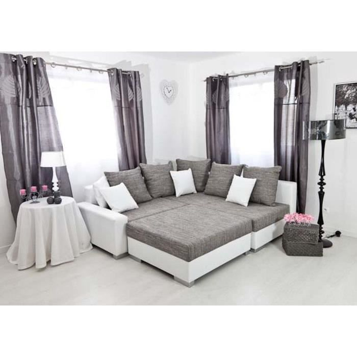 canap d 39 angle droit modulable tissu sonia achat vente. Black Bedroom Furniture Sets. Home Design Ideas