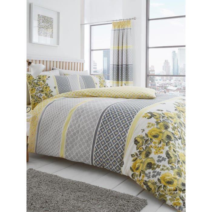en polyester jaune ART taille King housse de couette et 2 taie d/'oreiller ensemble de lit