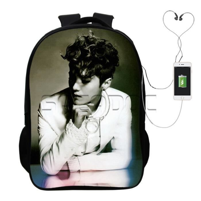 SAC A DOS Cool Exo Overdose Luahn USB charge à dos Exo Overdose Luahn Sac à dos Voyage Fashion Hommes Femmes Mignonne