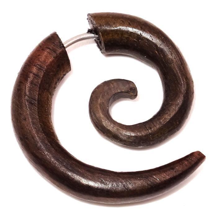 boucle d'oreille fausse spirale