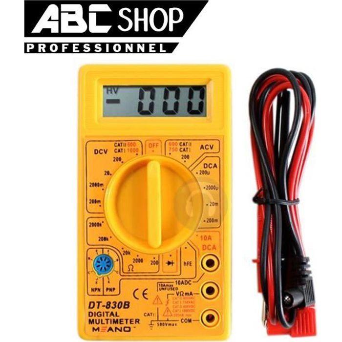 DT830B LCD Multimètre Numérique Voltmètre Ampèremètre Ohmmètre AC DC Testeur Meter À faire soi-même