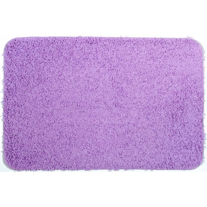 tapis de bain shaggy violet clair achat vente tapis de. Black Bedroom Furniture Sets. Home Design Ideas