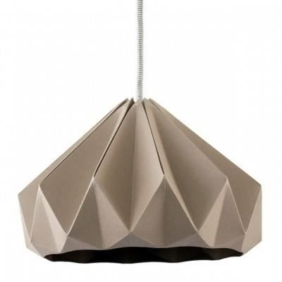 suspension origami chesnut taupe achat vente suspension origami chesnut papier porcelaine. Black Bedroom Furniture Sets. Home Design Ideas