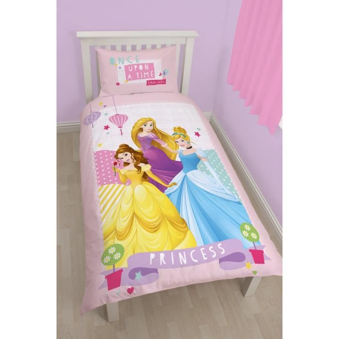 parure de lit princesse enchanting disney achat vente. Black Bedroom Furniture Sets. Home Design Ideas