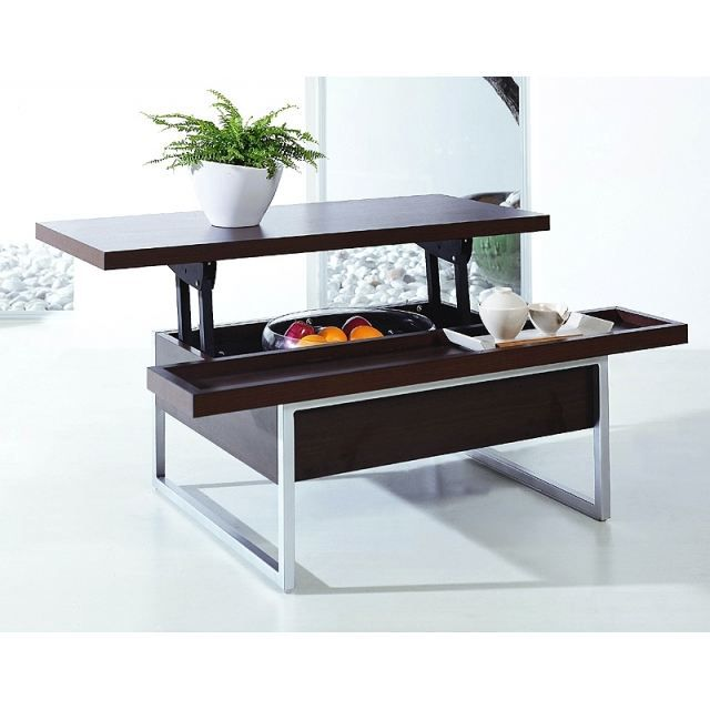 Table basse plateau relevable roosevelt wenge achat for Table basse scandinave plateau relevable
