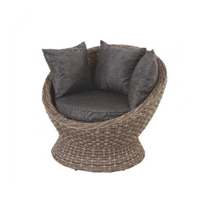 fauteuil cocoa exterieur gris wood hesperide achat. Black Bedroom Furniture Sets. Home Design Ideas