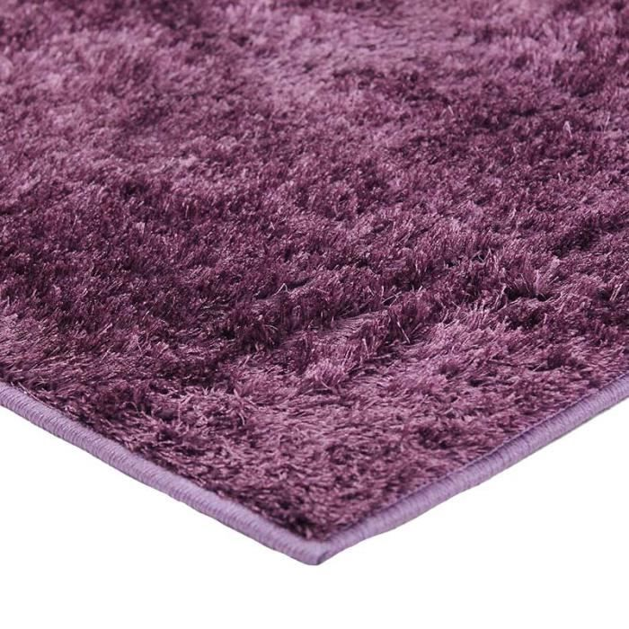 tapis briliant shaggy200x290 prune achat vente tapis. Black Bedroom Furniture Sets. Home Design Ideas