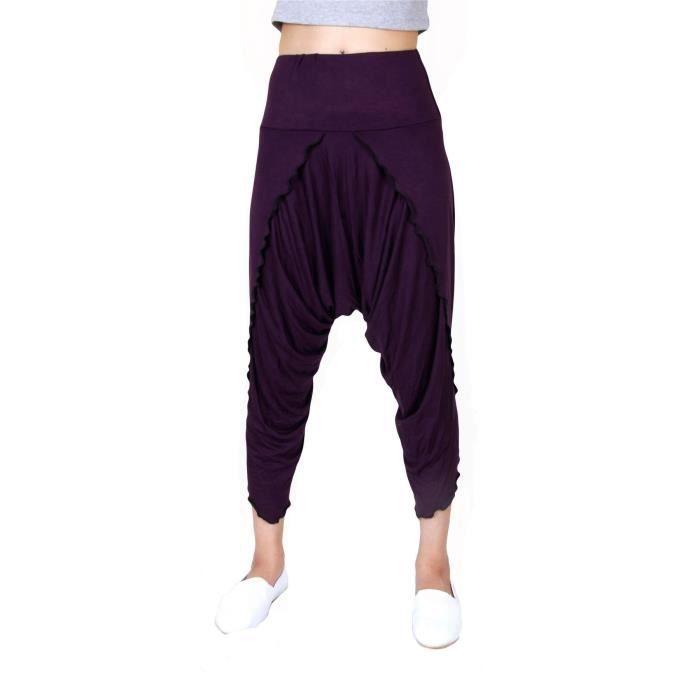 Sarouel Femme Spandex Capri Pantalon Harem Yoga Pilates Sport Yoga Danse  1LM0R0 Taille,34